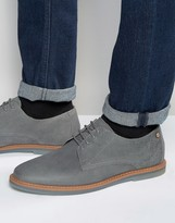 Frank Wright Woking Derby Shoes In Gray Leather