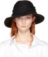 Y's Ys Black Tuck Hat