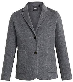 Theory Women's Double-Faced Shrunken Wool-Blend Blazer - Size 0