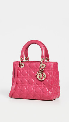 Shopbop Archive Christian Dior Lady Cannage Leather Bag