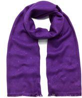 Mulberry Tree Rectangular Scarf Purple Silk Cotton