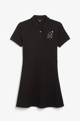 Monki Pique polo dress