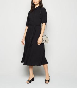 New Look Puff Sleeve Midi Shirt Dress