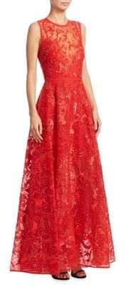 Elie Saab Beaded Sequin Gown
