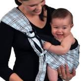 Balboa Baby Dr. Sears Original Adjustable Baby Sling in Blue/Black Plaid