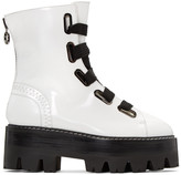 Ellery White Sunny Platform Combat Boots