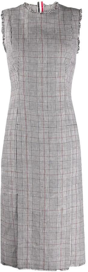 Thom Browne Check Print Mid-Length Dress