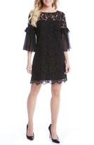 Karen Kane Women's Ruffle Sleeve Lace Shift Dress