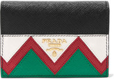 Prada Textured-leather Cardholder - Black
