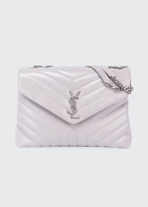 Saint Laurent Loulou Medium Matelasse Calfskin Flap-Top Shoulder Bag