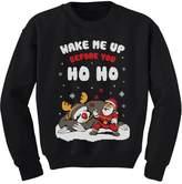 TeeStars Wake Me Up Before You HO HO Santa Sloth Ugly Xmas Youth Kids Sweatshirt