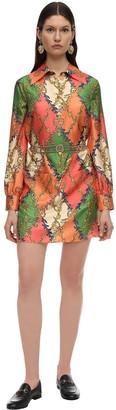 Gucci Printed Silk Twill Shirt Dress