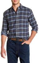 Faherty Long Sleeve Print Woven Shirt