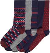 Linea Men's 5 Pack Diamond Geo Stripe Sock