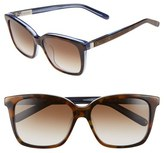 Bobbi Brown Women's 'The Alexandra' 55Mm Sunglasses - Tortoise Sapphire