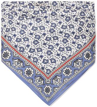 Chloé Printed Silk-twill Bandeau Top