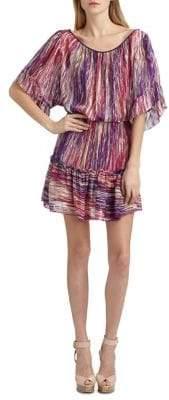 Cynthia Steffe Striped Silk Chiffon Dress