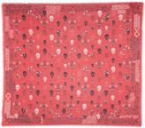 Alexander McQueen Red Heraldic Skull Scarf