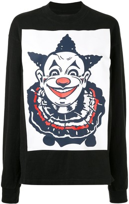 aganovich clown print longsleeved T-shirt