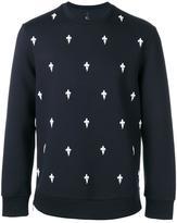 Neil Barrett Fleur de Thunder sweatshirt - men - Cotton/Spandex/Elastane/Lyocell/Viscose - S