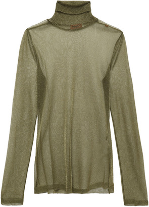 Missoni Metallic Knitted Turtleneck Top
