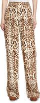ADAM by Adam Lippes Leopard-Print Menswear Pants