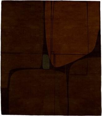 Key Stone Brayden Studio Keystone Clay Hand-Tufted Wool Brown Area Rug Brayden Studio Rug Size: Round 6'
