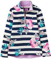 Joules Little Joule Girls' Fairdale Floral Sweatshirt, Blue/Multi