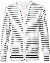 Sacai striped cardigan - men - Cotton/Cashmere - 4