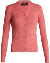 Rochas Logo-appliqué wool cardigan