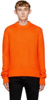 Calvin Klein Orange Cable Knit Sweater