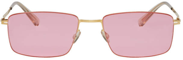 Mykita Gold and Pink Kaito Sunglasses