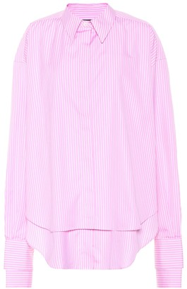 Rokh Striped cotton poplin shirt