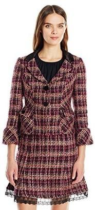 Nanette Lepore Women's L/s Button Front Boucle JKT