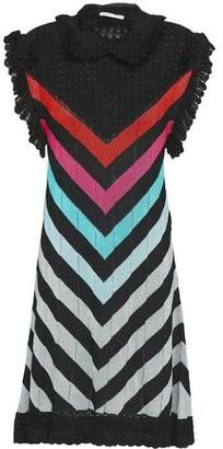Marco De Vincenzo Metallic Crochet And Intarsia-knit Mini Dress