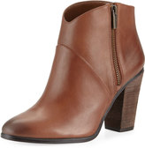 Vince Camuto Felise Leather Zip-Up Bootie, Dark Brown