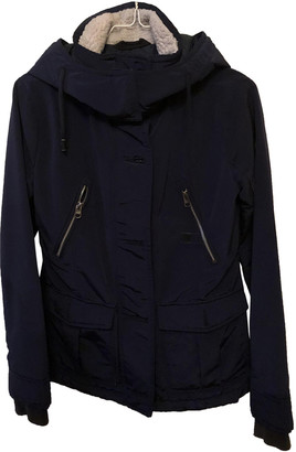 Abercrombie & Fitch Navy Polyester Coats