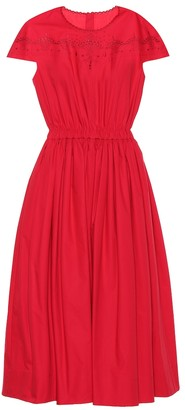 Fendi Cotton taffeta dress