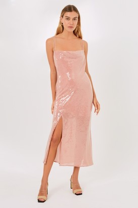 Finders Keepers ANGELINE DRESS Pink Champagne