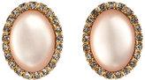 Carol Dauplaise Gold-Tone Oval-Shaped Earrings