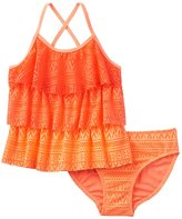 Girls 4-16 SO® Ombre Tiered Crochet 2-pc. Tankini Swimsuit Set