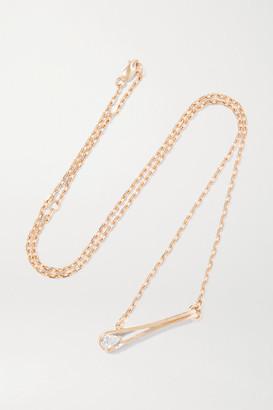 Repossi Serti Inverse 18-karat Rose Gold Diamond Necklace