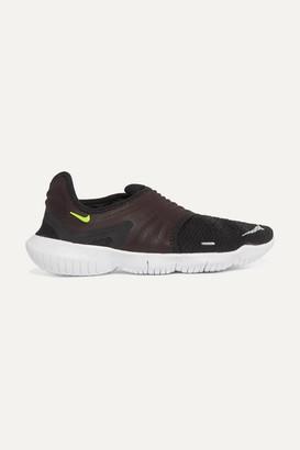 Nike Free 3.0 Flyknit Slip-on Sneakers - Black