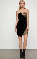 BCBGMAXAZRIA Velvet and Lurex Mini Dress