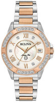 Bulova Ladies' Diamond Rose Gold and Steel Bracelet Watch