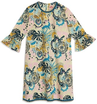 Le Sirenuse Positano Printed Cappa Short Dress