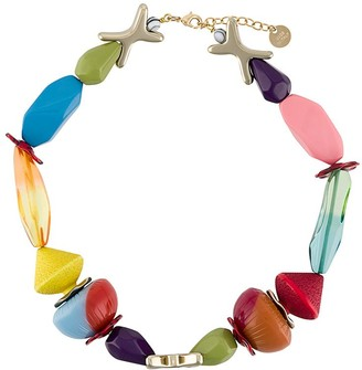 Missoni beaded colour-block necklace