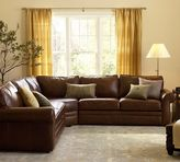 Pottery Barn Pearce Leather 3-Piece L-Shape Sectional with Wedge