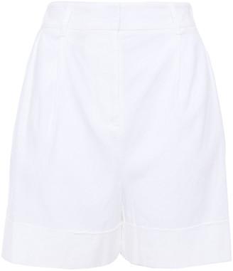 Diane von Furstenberg Pleated Linen-blend Shorts