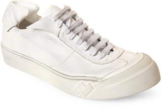 Cinzia Araia White Wulki Distressed Low-Top Sneakers